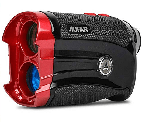 AOFAR GX-2S Golf Rangefinder Slope on or Off, 600 Yards White Range Finder, Flag-Lock with Vibration, Waterproof, Gift Packaging