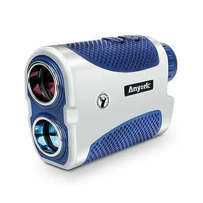 Anyork Golf Rangefinder 6X Laser Range Finder with Slope On or Off,Flag-Lock Tech with Vibration, Continuous Scan Support-with Battery