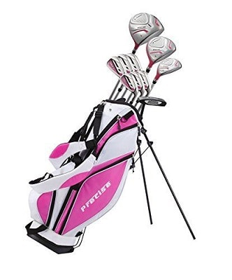 Precise Premium Ladies Womens Complete Golf Clubs Set Includes Driver, Fairway, Hybrid, S S 5-PW Irons, Putter, Stand Bag, 3 H-Cs