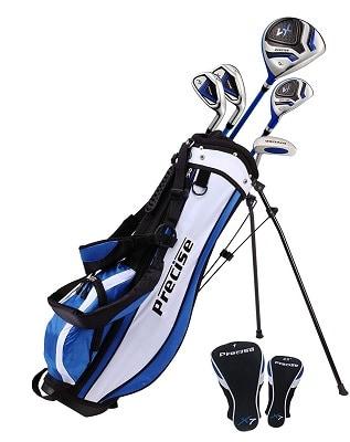 PreciseGolf Co. Precise X7 Junior Complete Golf Club Set for Children Kids - 3 Age Groups Boys & Girls - Right Hand & Left Hand
