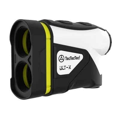 TecTecTec ULT-X Golf Rangefinder - Laser Range Finder with 1,000 Yards Range, Slope, Vibration, Easy Flagseeker and On or Off