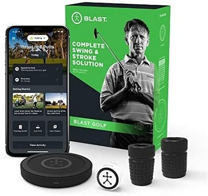 Blast Motion Golf Swing Analyzer I Captures Putting, Full Swing, with NEW Short Game and Bunker Modes