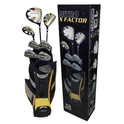 Nitro Golf- X Factor 13 Piece Complete Set with Bag Graphite-Steel
