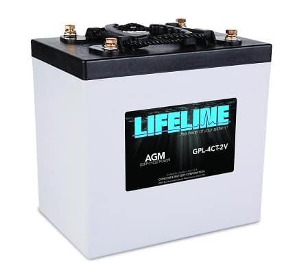Lifeline Marine AGM Battery GPL-4CT