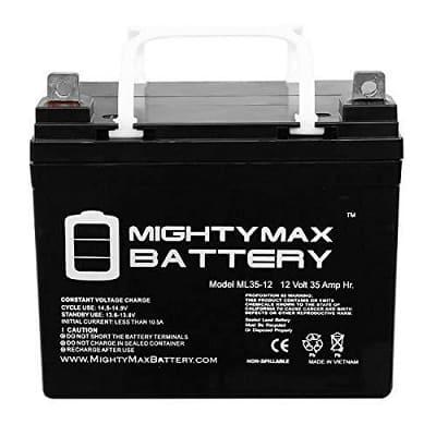 Mighty Max Battery ML35-12 - 12V 35AH U1 Deep Cycle AGM Solar Battery